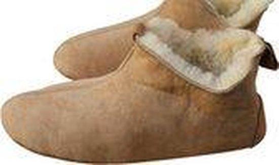 LuLu- Leren sloffen / pantoffels gevoerd met Schapenvacht – Maat 38