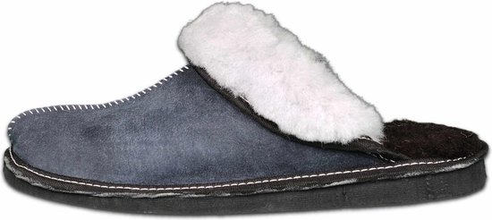 Schapenvacht pantoffels – Lamsvacht dames slippers – Grijs – Maat 43