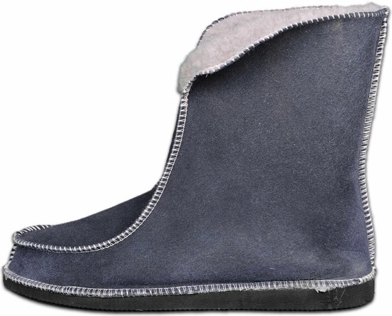 Schapenvacht pantoffels – Lamsvacht hoge pantoffels – Grijs – Maat 40