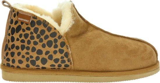 Shepherd Annie dames pantoffel – Bruin multi – Maat 39