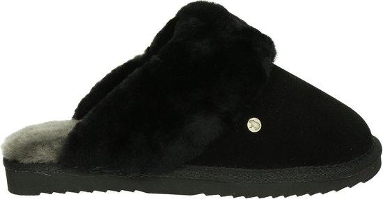 Warmbat Flurry Suede Dames Pantoffels – Black/Black – Maat 43
