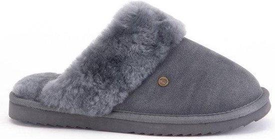 Warmbat Flurry Suede Dames Pantoffels – Dark grey – Maat 43