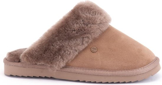 Warmbat Flurry Suede Dames Pantoffels – Mud – Maat 38