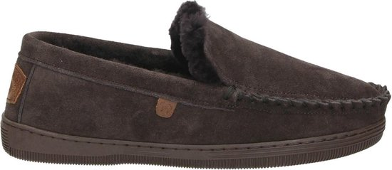 Warmbat Grizzly Suede Heren Pantoffels – Choco – Maat 43
