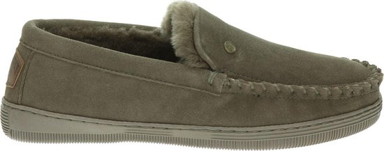 Warmbat Grizzly Suede Heren Pantoffels – Pebble – Maat 43