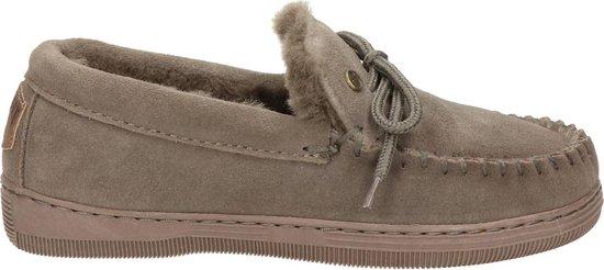 Warmbat Koala Suede Dames Pantoffels – Pebble – Maat 39