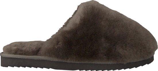 Warmbat Mungo Fur Dames Pantoffels – Dark grey – Maat 41