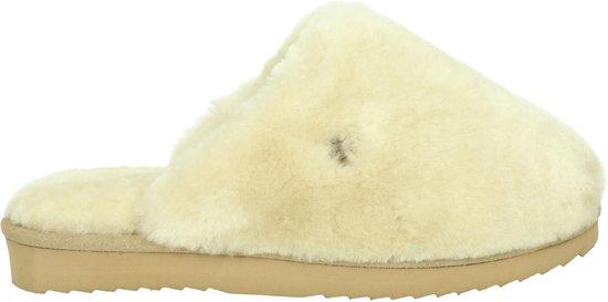 Warmbat Mungo Fur Dames Pantoffels – Stone – Maat 41