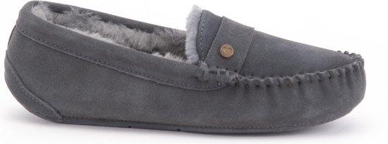 Warmbat Nowra Suede Dames Pantoffels – Dark grey – Maat 36