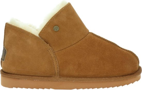 Warmbat Willow Suede Dames Pantoffels – Cognac – Maat 39